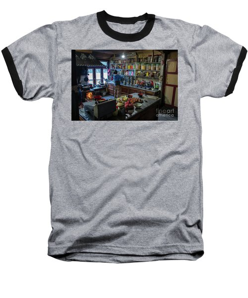 Baseball T-Shirt featuring the photograph Phakding Teahouse Kitchen Morning by Mike Reid