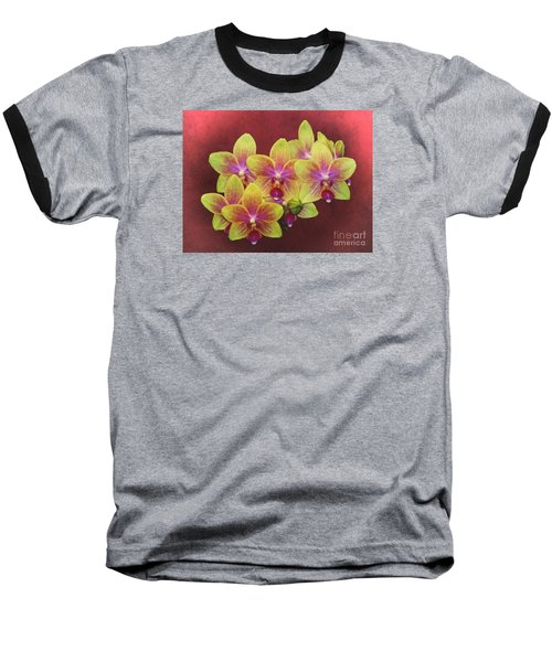 Phalaenopsis Orchid Flower Baseball T-Shirt by Suzanne Handel