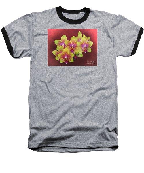 Phalaenopsis Orchid Flower Baseball T-Shirt