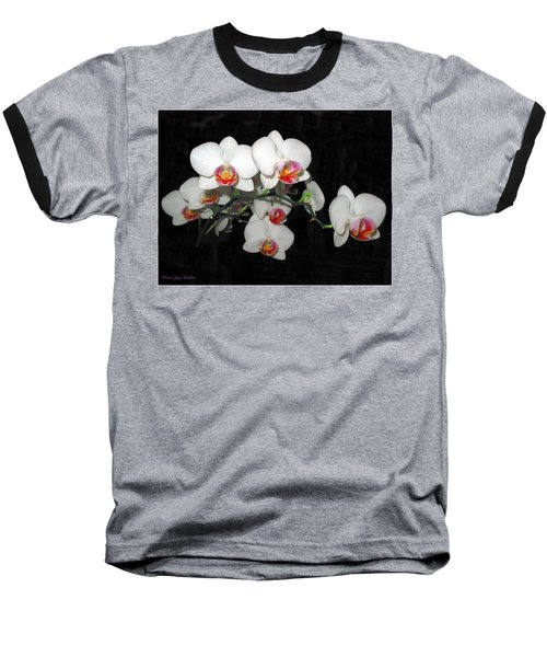 Phalaenopsis Orchids Baseball T-Shirt by Joyce Dickens