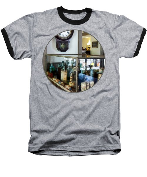Baseball T-Shirt featuring the photograph Pharmacist - Corner Drug Store by Susan Savad