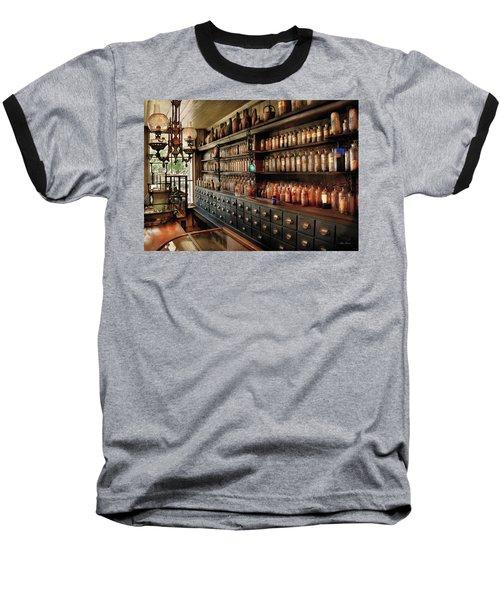 Pharmacy - So Many Drawers And Bottles Baseball T-Shirt