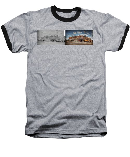 Baseball T-Shirt featuring the photograph Pharmacy - The Corner Drugstore 1910 - Side By Side by Mike Savad