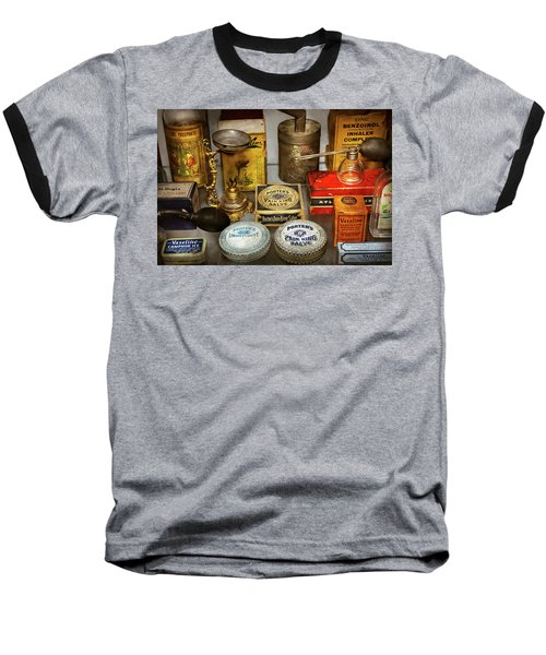 Baseball T-Shirt featuring the photograph Pharmacy - The Pain King by Mike Savad