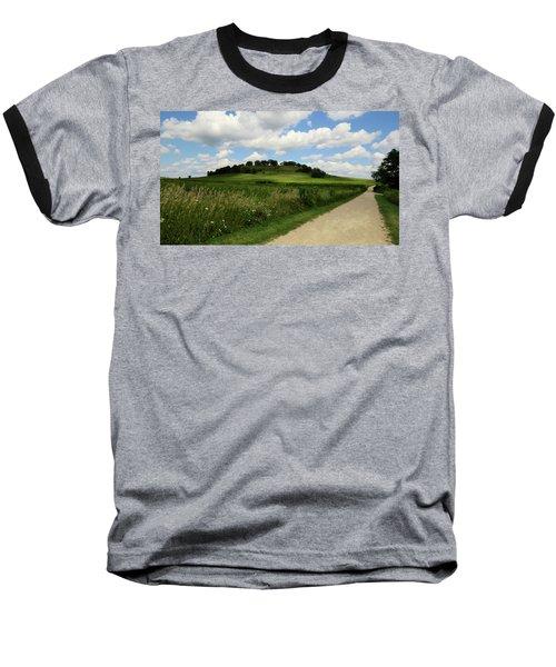 Pheasant Branch Hill Baseball T-Shirt by Kimberly Mackowski