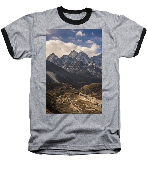 Baseball T-Shirt featuring the photograph Pheriche In The Valley by Mike Reid