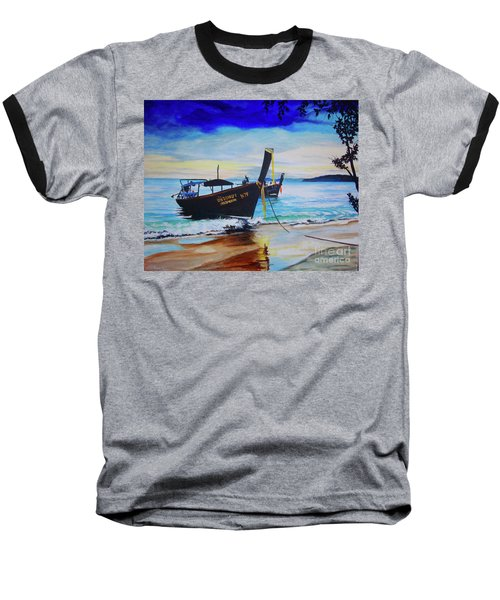 Baseball T-Shirt featuring the painting Phi Phi by Stuart Engel