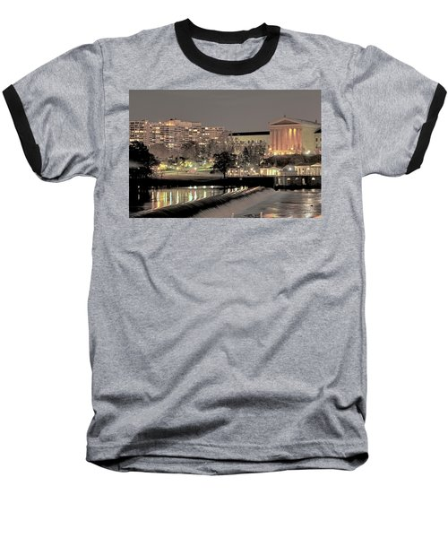 Philadelphia Art Museum In Pastel Baseball T-Shirt