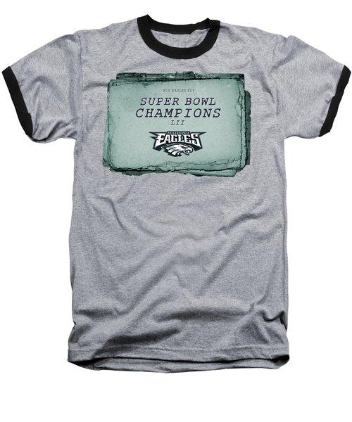 Philadelphia Eagles Super Bowl Champions  L I I  Playbook With Transparent Background Baseball T-Shirt