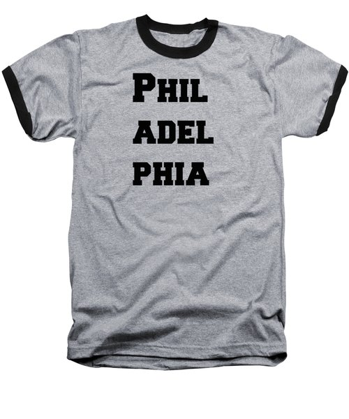 Philadelphia In Pink Baseball T-Shirt