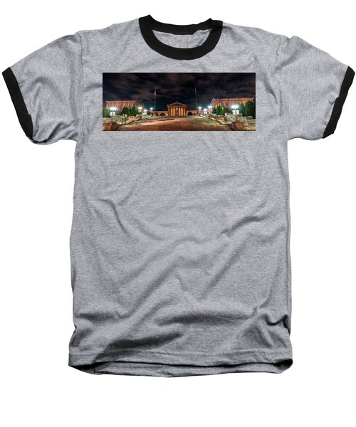 Baseball T-Shirt featuring the photograph Philadelphia Museum Of Art by Marvin Spates