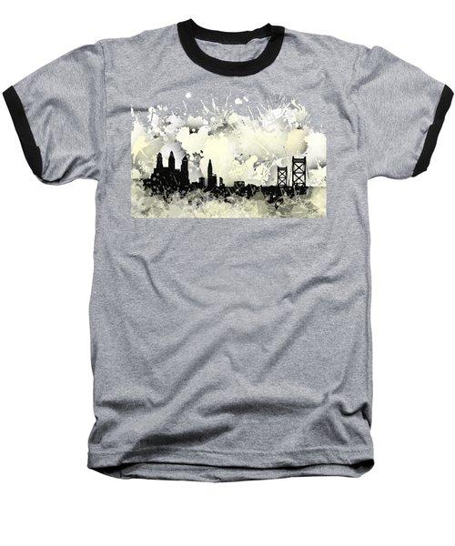 Philadelphia Skyline. Baseball T-Shirt