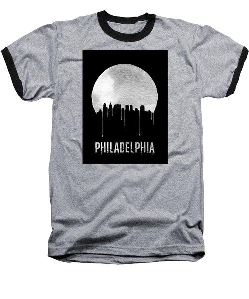 Philadelphia Skyline Black Baseball T-Shirt