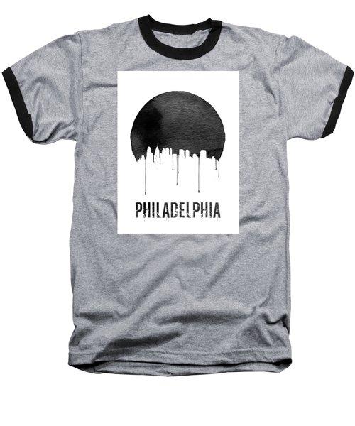 Philadelphia Skyline White Baseball T-Shirt