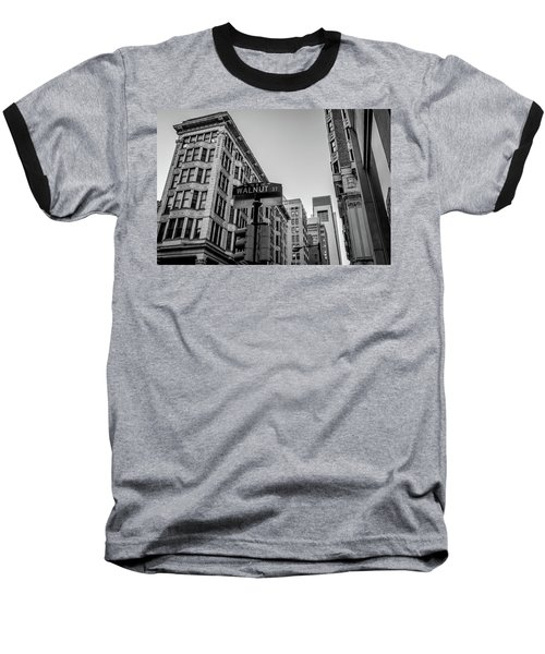Philadelphia Urban Landscape - 0980 Baseball T-Shirt by David Sutton