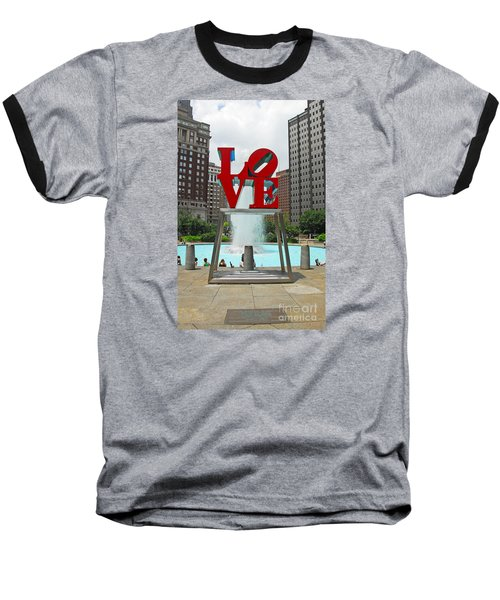 Philadelphia's Love Park Baseball T-Shirt