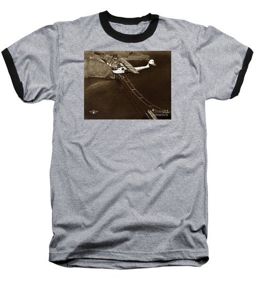 Philippine Clipper A Pan Am Clipper Over The Golden Gate Bridge  1935 Baseball T-Shirt