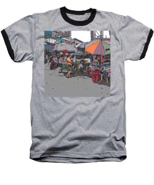 Philippines 708 Market Baseball T-Shirt