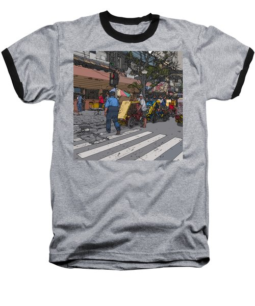 Philippines 906 Crosswalk Baseball T-Shirt