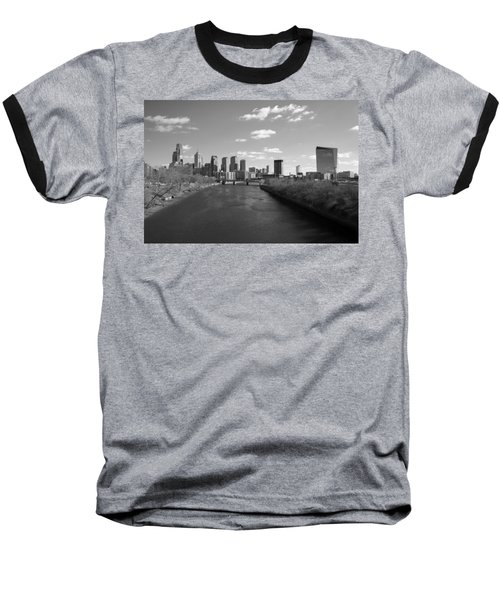 Philly B/w Baseball T-Shirt by Jennifer Ancker