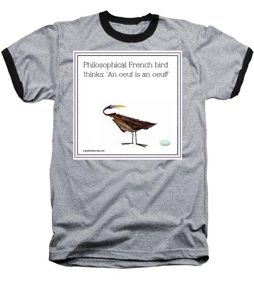 Philosophical Bird Baseball T-Shirt