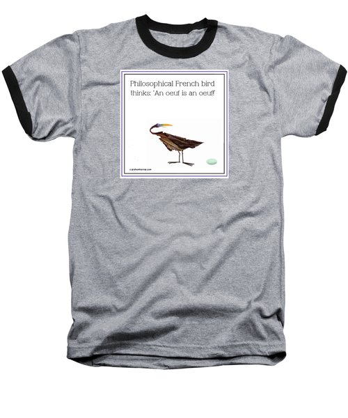 Philosophical Bird Baseball T-Shirt