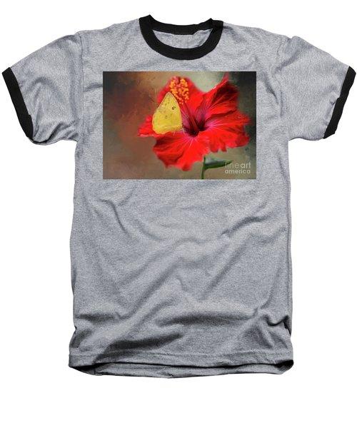 Phoebis Philea On A Hibiscus Baseball T-Shirt