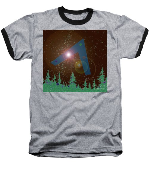 Baseball T-Shirt featuring the painting Phoenix Lights Ufo by James Williamson