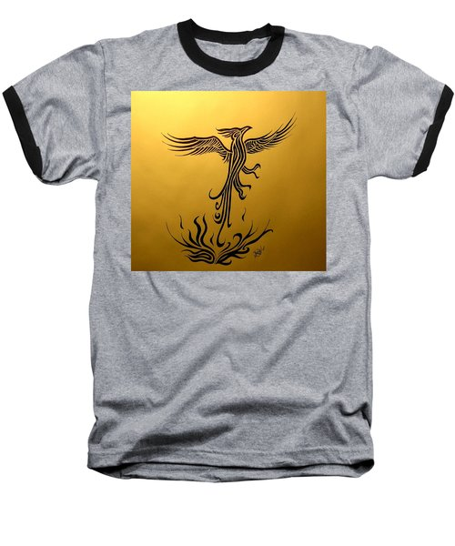 Baseball T-Shirt featuring the drawing Phoenix by Michelle Dallocchio