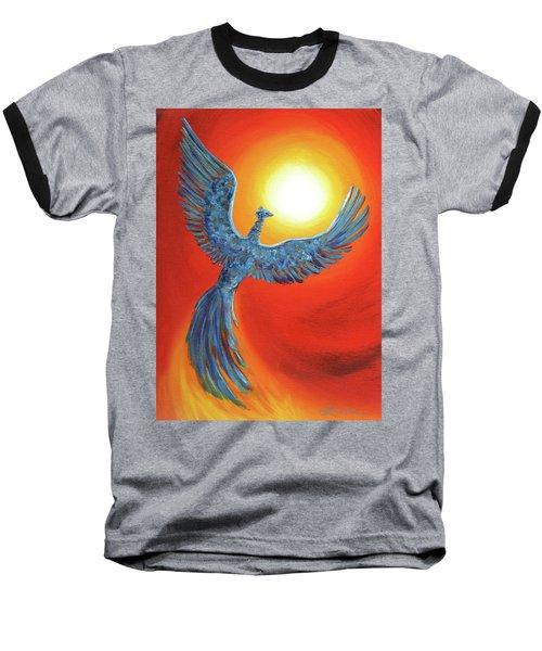 Phoenix Rising Baseball T-Shirt by Laura Iverson