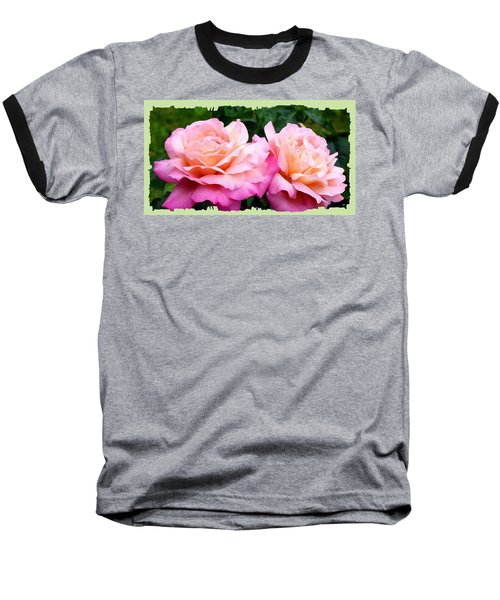 Baseball T-Shirt featuring the photograph Photogenic Peace Roses by Will Borden
