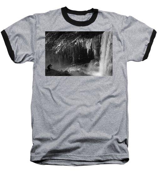 Photographer At Vernal Falls Baseball T-Shirt by Ralph Vazquez