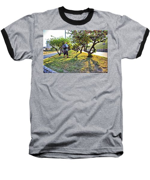 Baseball T-Shirt featuring the photograph Photographer by Brian Wallace