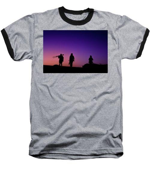Photographers At Sunset Baseball T-Shirt by Ralph Vazquez