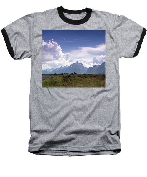 Photographing The Tetons Baseball T-Shirt by Dawn Romine