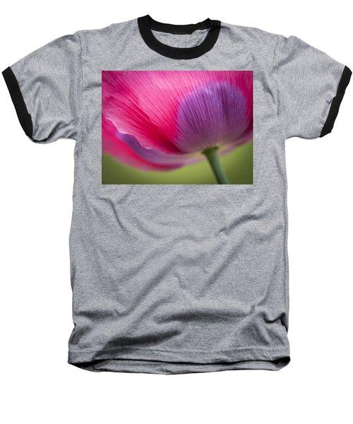 Poppy Close Up Baseball T-Shirt