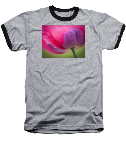 Poppy Close Up Baseball T-Shirt