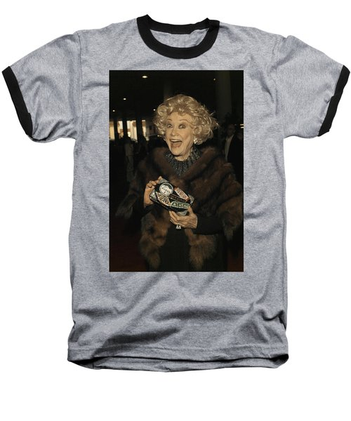 Phyllis Diller Baseball T-Shirt by Nina Prommer