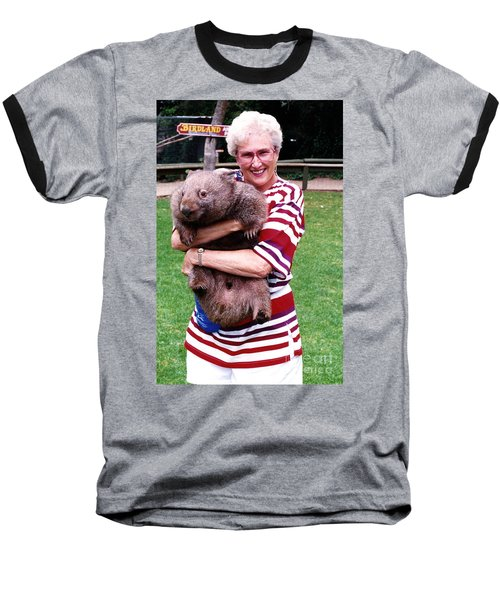 Phyllis Holding Thirty Lb Wombat Australia Baseball T-Shirt