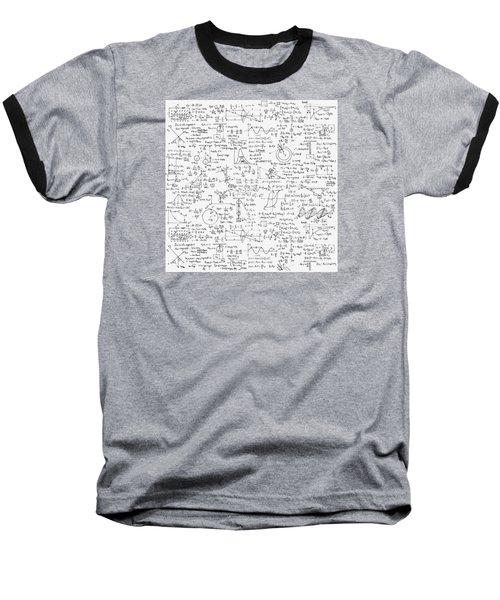 Physics Forms Baseball T-Shirt by Gina Dsgn