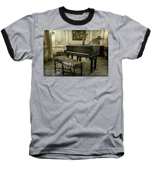 Baseball T-Shirt featuring the photograph Piano At Josie's House by Joan Carroll