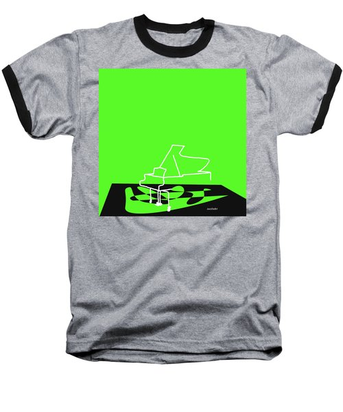 Piano In Green Baseball T-Shirt by David Bridburg