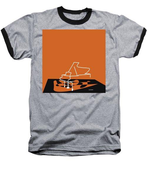 Piano In Orange Baseball T-Shirt