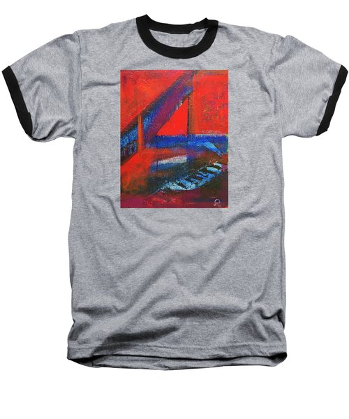 Piano In The Red Room Baseball T-Shirt by Walter Fahmy
