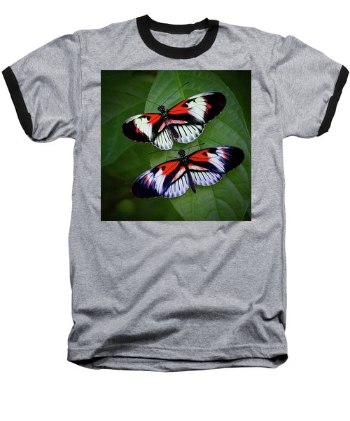 Piano Key Butterfly's Baseball T-Shirt