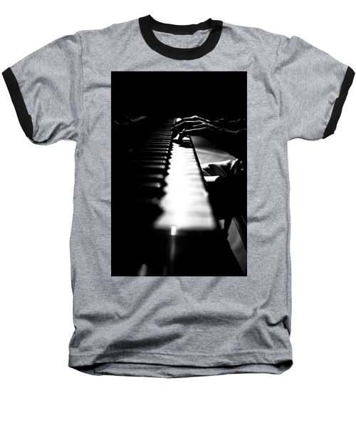 Piano Player Baseball T-Shirt