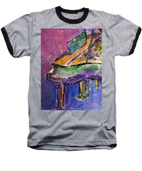Piano Purple - Cropped Baseball T-Shirt