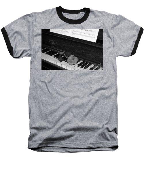 Piano Rose Baseball T-Shirt