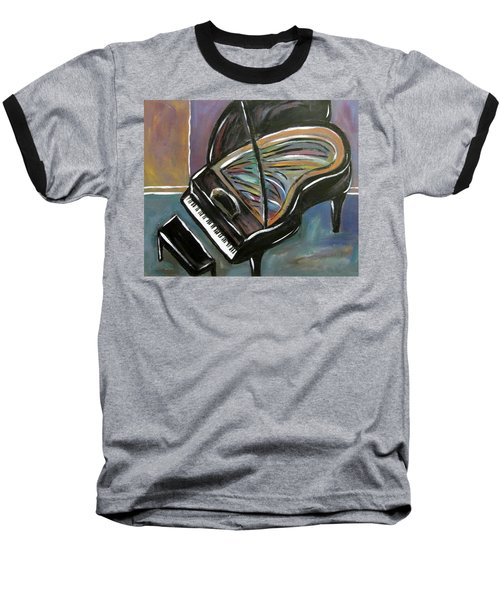 Piano With High Heel Baseball T-Shirt