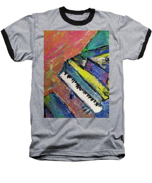Piano With Yellow Baseball T-Shirt